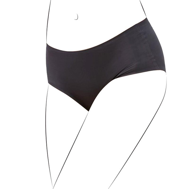 i-Pure 無縫機能內褲-低腰黑色