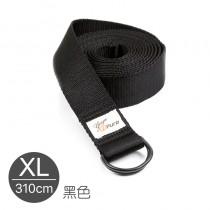 熱身瑜珈伸展帶-黑色XL