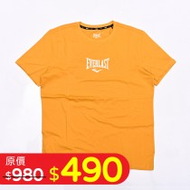 圓領印花LOGO棉T-中黃